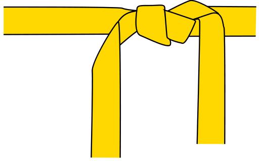 yellow belt clipart - photo #7